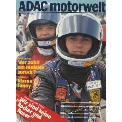 ADAC Motorwelt Heft.8 / August 1982 - Motorradfahren Treffen