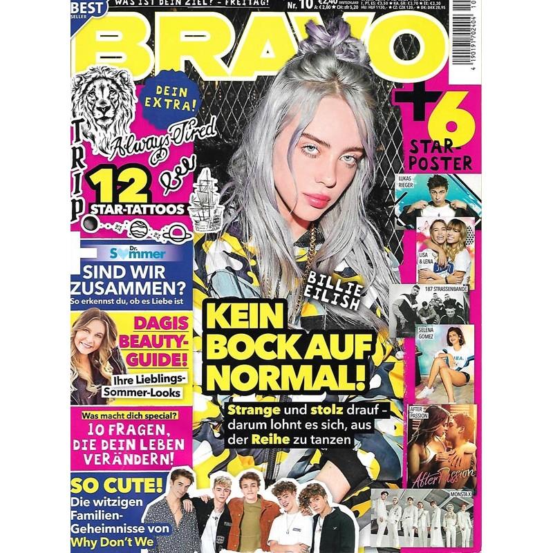 BRAVO Nr.10 / 24 April 2019 - Billie Eilish, kein Bock auf normal