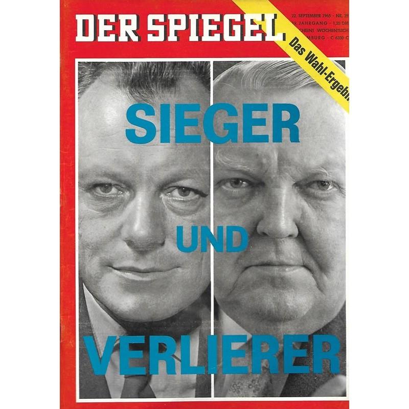 Der Spiegel Nr.39 / 22 September 1965 - Sieger und Verlierer