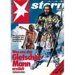 stern Heft Nr.29 / 9 Juli 1992 - Der Gletscher Mann