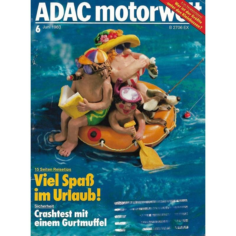 ADAC Motorwelt Heft.6 / Juni 1983 - Viel Spaß im Urlaub