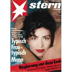 stern Heft Nr.20 / 7 Mai 1992 - Typisch Frau / typisch Mann