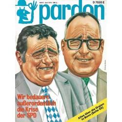 pardon Heft 6 / Juni 1974 - Wir bedauern die Krise der SPD