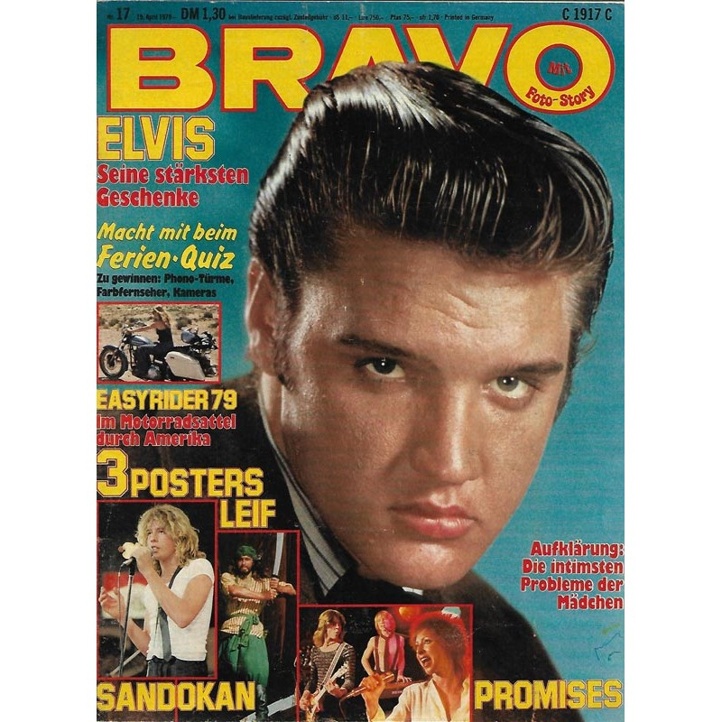 BRAVO Nr.17 / 19 April 1979 - Elvis seine stärksten Geschenke