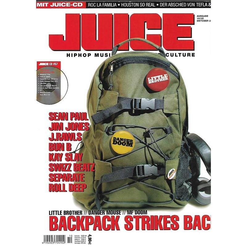 JUICE Nr.79 Oktober / 2005 & CD 57 - Backpack Strikes Back