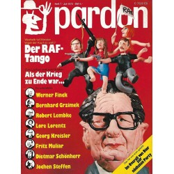 pardon Heft 7 / Juli 1975 - Der RAF-Tango