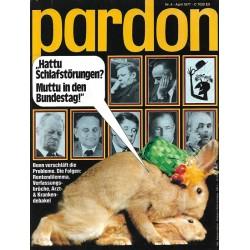 pardon Heft 4 / April 1977...