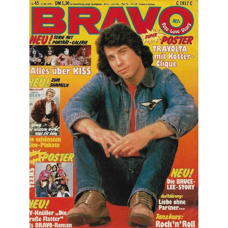 BRAVO Nr.45 / 31 Oktober 1979 - Travolta mit Kotter-Clique