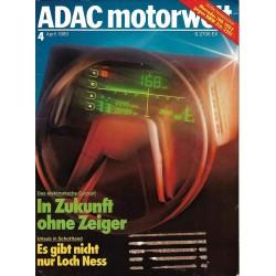 ADAC Motorwelt Heft.4 / April 1983 - In Zukunft ohne Zeiger