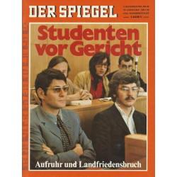 Der Spiegel Nr.45 / 3 November 1969 - Studenten vor Gericht