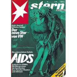 stern Heft Nr.10 / 3 März 1988 - Die unterschätzte Gefahr AIDS