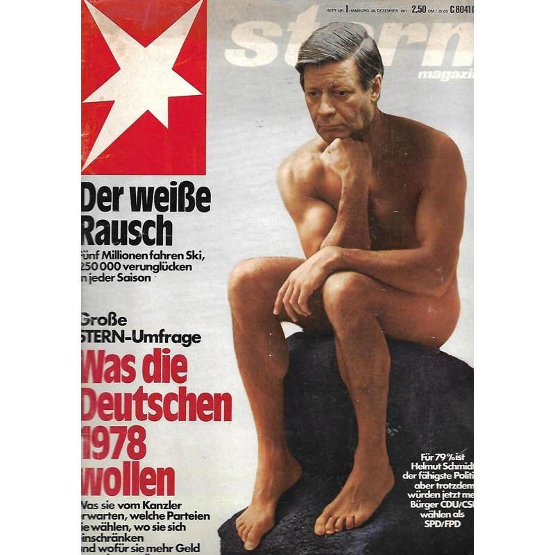 stern Heft Nr.1 / 29 Dezember 1977 - Was die Deutschen 1978 wollen