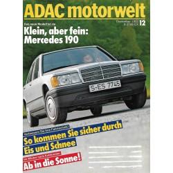 ADAC Motorwelt Heft.12 / Dezember 1982 - Mercedes 190