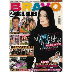 BRAVO Nr.25 / 14 Juni 1995 - Michael Jackson neues Video