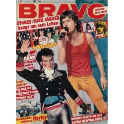 BRAVO Nr.45 / 29 Oktober 1981 - Mick Jagger bangt um sein Leben