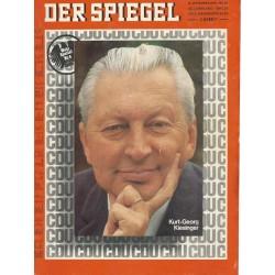 Der Spiegel Nr.37 / 8 September 1969 - Kurt-Georg Kiesinger
