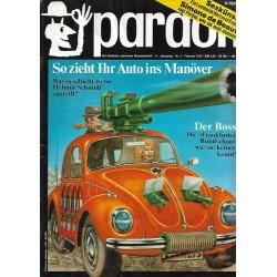 pardon Heft 1 / Februar 1972 - So zieht ihr Auto ins Manöver