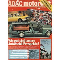 ADAC Motorwelt Heft.12 / Dez. 1977 - Wie gut sind Auto-Prospekte?