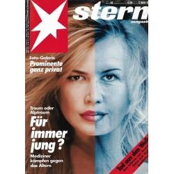 stern Heft Nr.42 / 8 Oktober 1992 - Für immer jung?