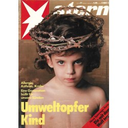 stern Heft Nr.37 / 5 September 1991 - Umweltopfer Kind