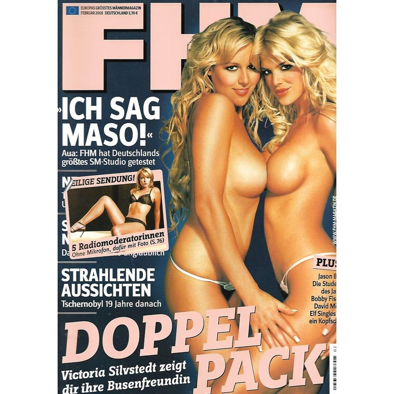FHM Februar 2005 - Victoria Silvstedt zeigt ihr Freundin