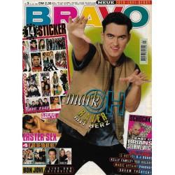 BRAVO Nr.3 / 12 Januar 1995 - mark oh Raver mit Herz