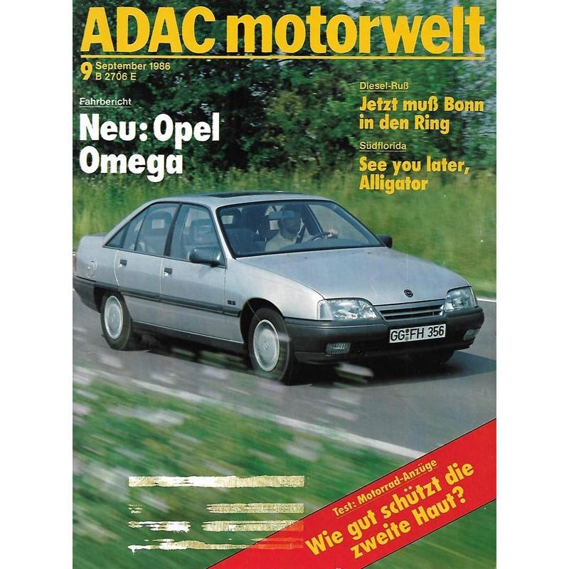 ADAC Motorwelt Heft.9 / September 1986 - NEU: Opel Omega