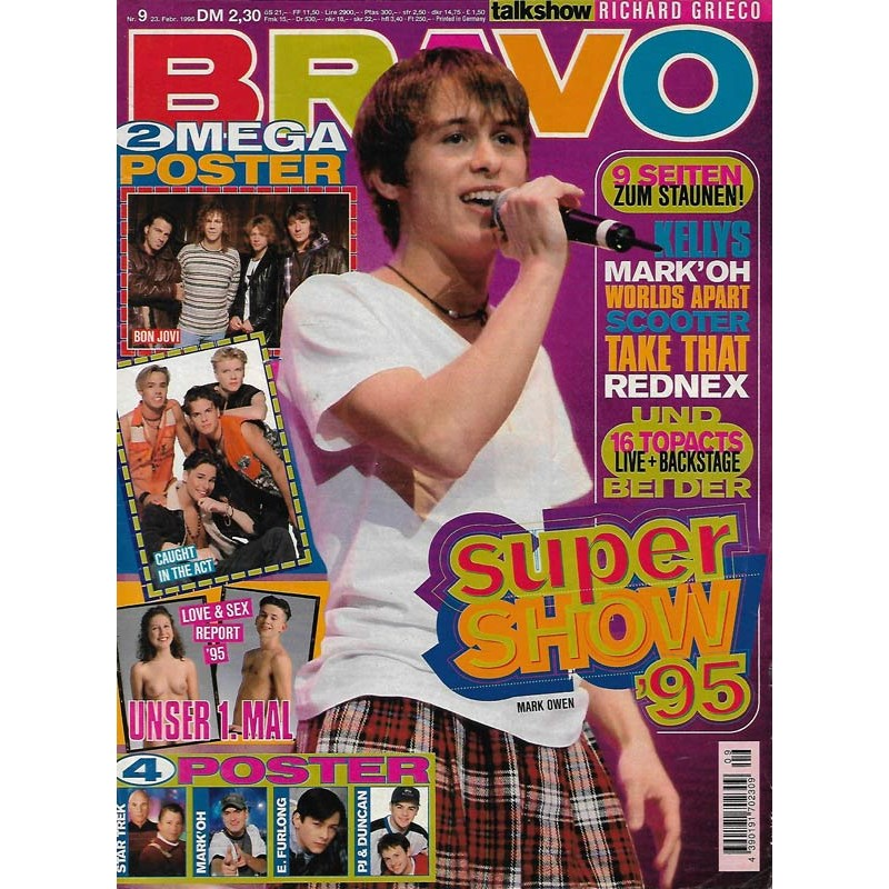 BRAVO Nr.9 / 23 Februar 1995 - Mark Owen Super Show 95
