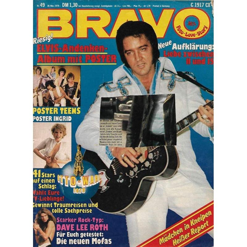 BRAVO Nr.49 / 30 November 1978 - Elvis Andenken