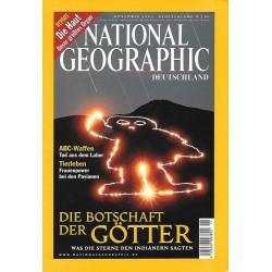 NATIONAL GEOGRAPHIC November 2002 - Die Botschaft der Götter