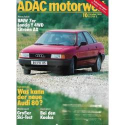ADAC Motorwelt Heft.10 / Oktober 1986 - Was kann der neue Audi 80?
