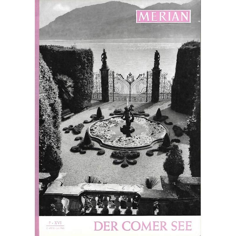 MERIAN Der Comer See 7/XVI Juli 1963