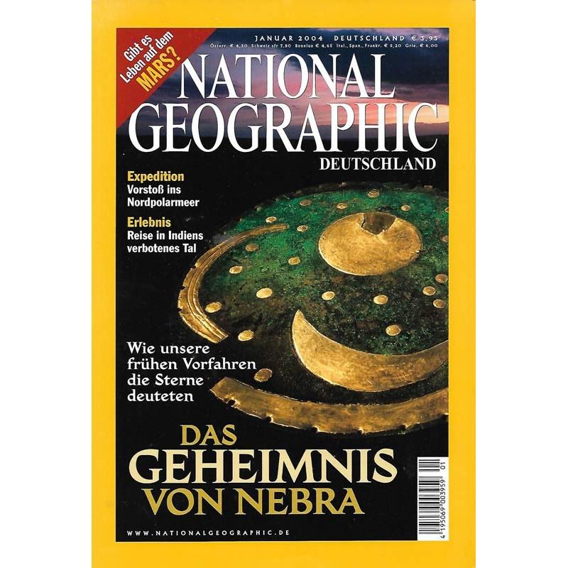 NATIONAL GEOGRAPHIC Januar 2004 - Das Geheimnis von Nebra