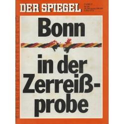 Der Spiegel Nr.20 / 8 Mai 1972 - Bonn in der Zerreißprobe