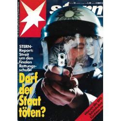 stern Heft Nr.33 / 10 August 1989 - Darf der Staat töten?