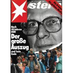 stern Heft Nr.41 / 5 Oktober 1989 - Der große Auszug