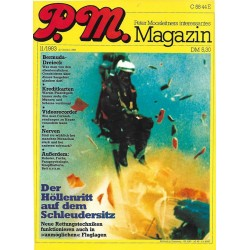 P.M. Ausgabe November 11/1983 - Der Höllenritt auf dem Schleudersitz