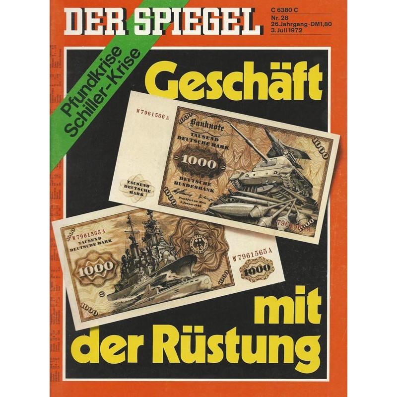 Der Spiegel Nr.28 / 3 Juli 1972 - Geschäft mit der Rüstung