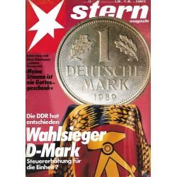 stern Heft Nr.13 / 22 März 1990 - Wahlsieger D-Mark