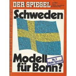 Der Spiegel Nr.42 / 9 Oktober 1972 - Schweden Modell für Bonn