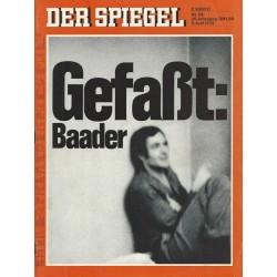 Der Spiegel Nr.24 / 5 Juni 1972 - Gefaßt: Baader
