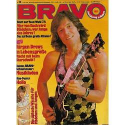 BRAVO Nr.50 / 2 Dezember 1976 - Jürgen Drews in Lebensgröße