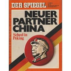 Der Spiegel Nr.43 / 16 Oktober 1972 - Neuer Partner China