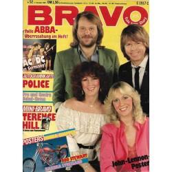 BRAVO Nr.52 / 17 Dezebmer 1980 - ABBA Überraschung