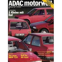 ADAC Motorwelt Heft.1 / Januar 1987 - 5 Kleine mit Kat