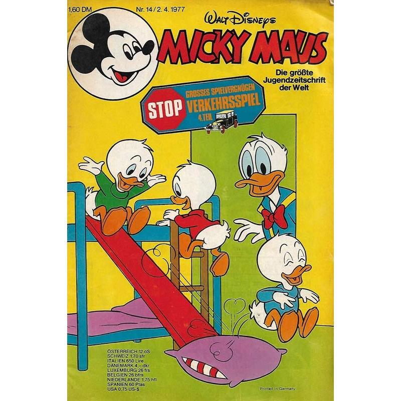 Micky Maus Nr. 14 / 2 April 1977 - Verkehrsspiel