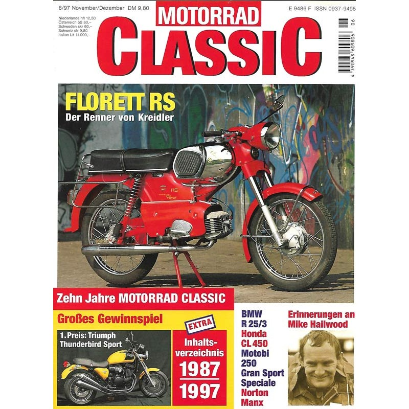 Motorrad Classic 6/97 - Nov/Dez 1997 - Florett RS