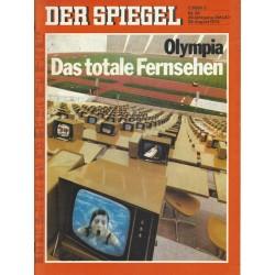 Der Spiegel Nr.36 / 28 August 1972 - Das totale Fernsehen