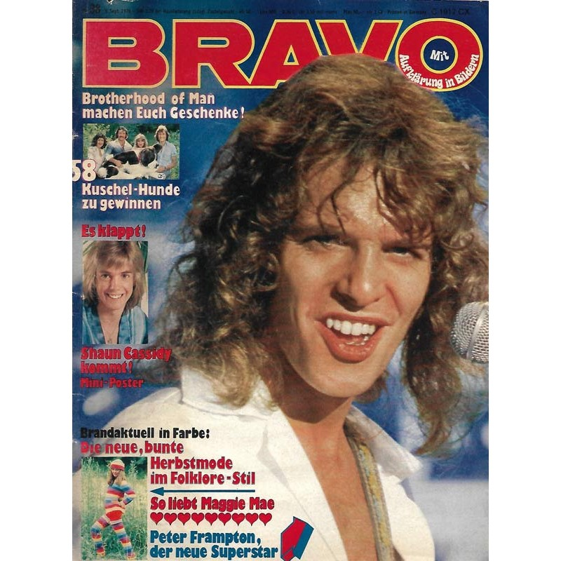 BRAVO Nr.38 / 9 September 1976 - Peter Frampton