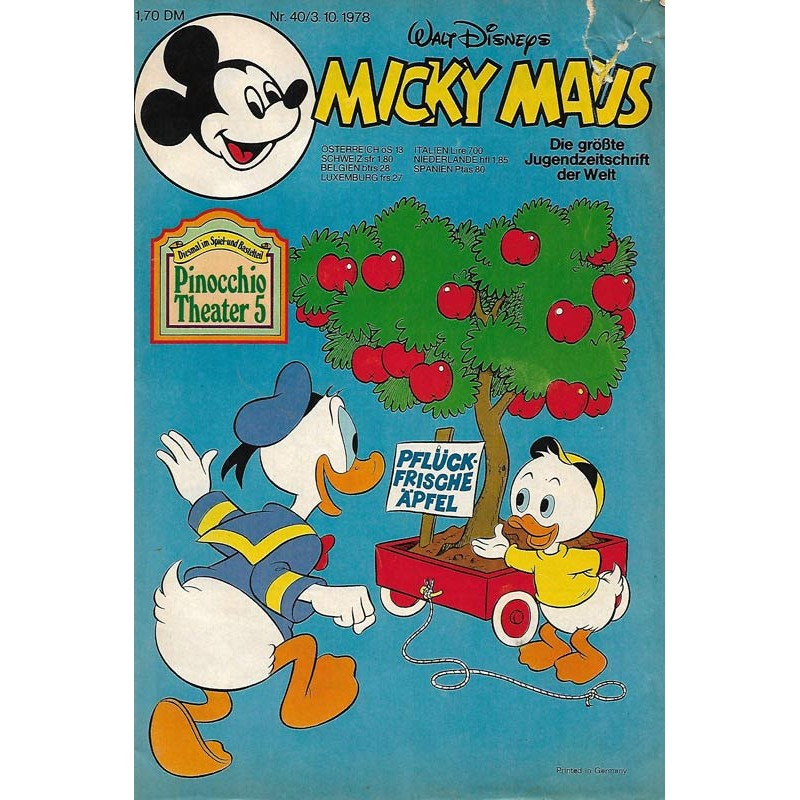 Micky Maus Nr. 40 / 3 Oktober 1978 - Pflück-Frische Äpfel